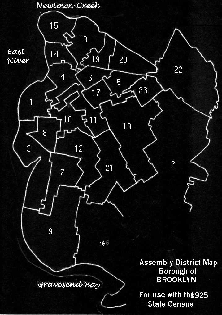1925 Map Outline Assembly Districts